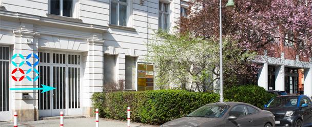 Eingangsbereich Frauenarztpraxis Welserstraße